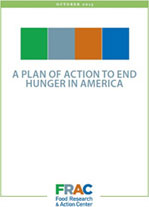 FRAC Plan of Action to End Hunger in America